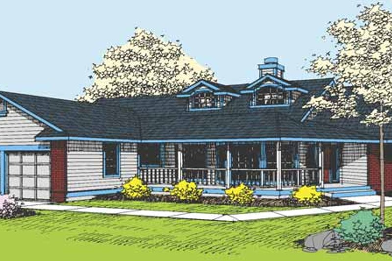 Country Exterior - Front Elevation Plan #60-658 - Houseplans.com
