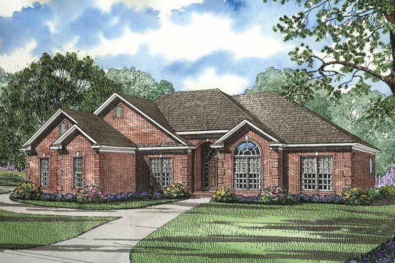 Dream House Plan - Ranch Exterior - Front Elevation Plan #17-2731