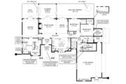 European Style House Plan - 3 Beds 2 Baths 1999 Sq/Ft Plan #119-420 Floor Plan - Main Floor Plan