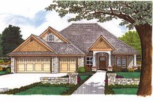 House Plan Design - Craftsman Exterior - Front Elevation Plan #310-1242