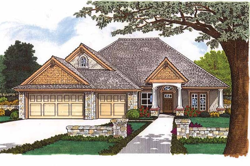 Craftsman Exterior - Front Elevation Plan #310-1242