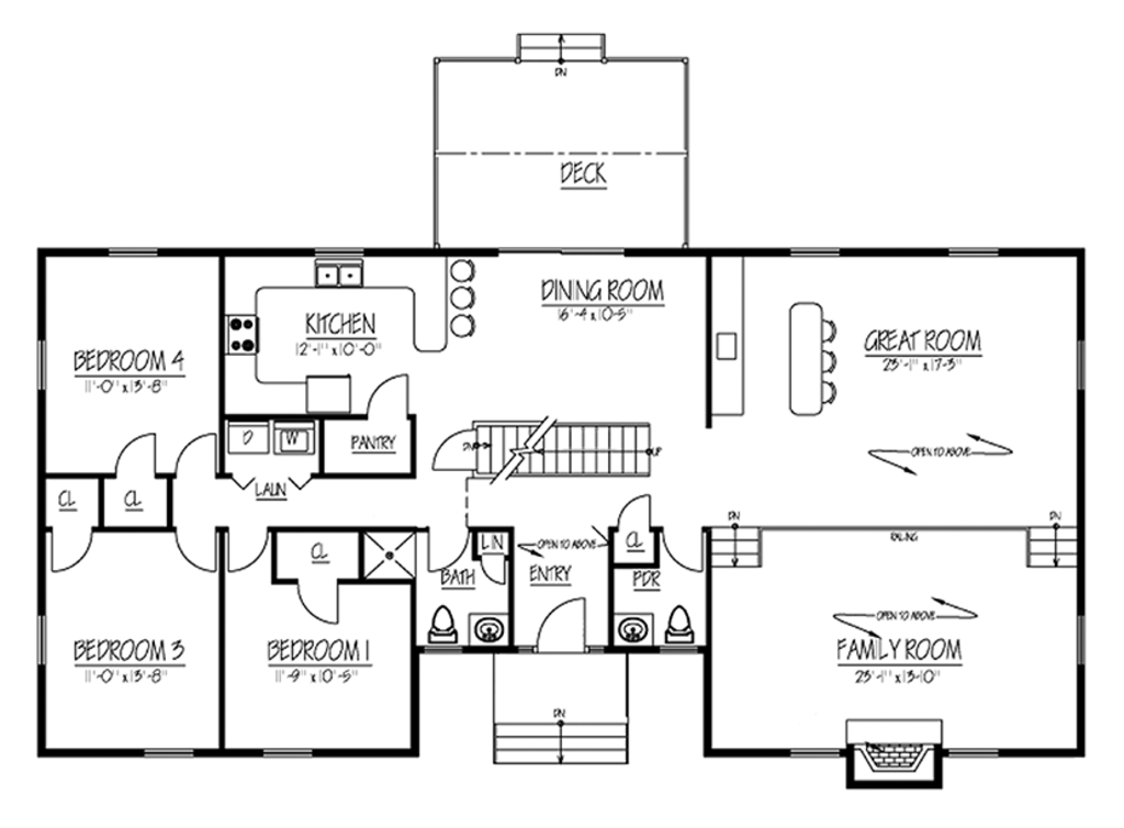 Country style house plan 4 beds 2 5 baths 2767 sq ft for Www floorplans com