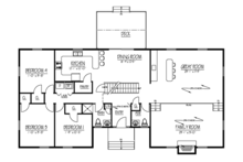 Country Floor Plan - Main Floor Plan Plan #1061-36