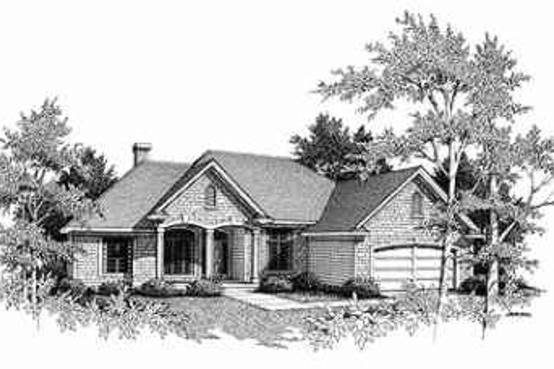 Traditional Exterior - Front Elevation Plan #70-349