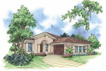Home Plan - Mediterranean Exterior - Front Elevation Plan #930-379