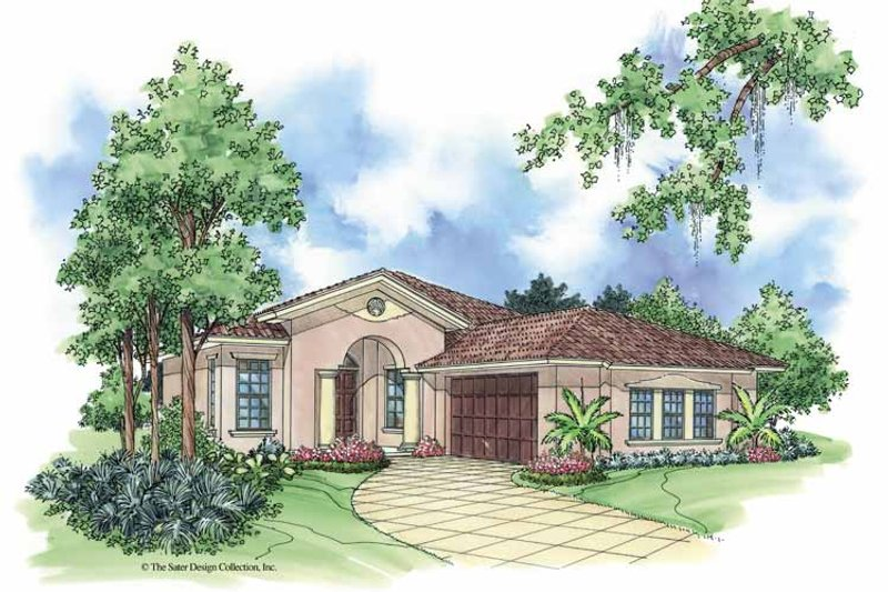 Mediterranean Exterior - Front Elevation Plan #930-379