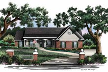 Country Exterior - Front Elevation Plan #952-217