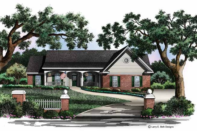 House Design - Country Exterior - Front Elevation Plan #952-217