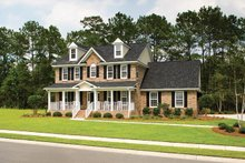 Classical Exterior - Front Elevation Plan #929-679