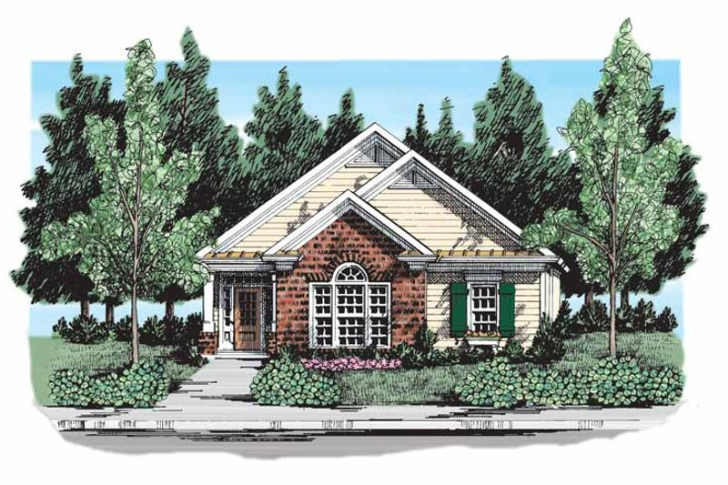 Ranch Exterior - Front Elevation Plan #927-302