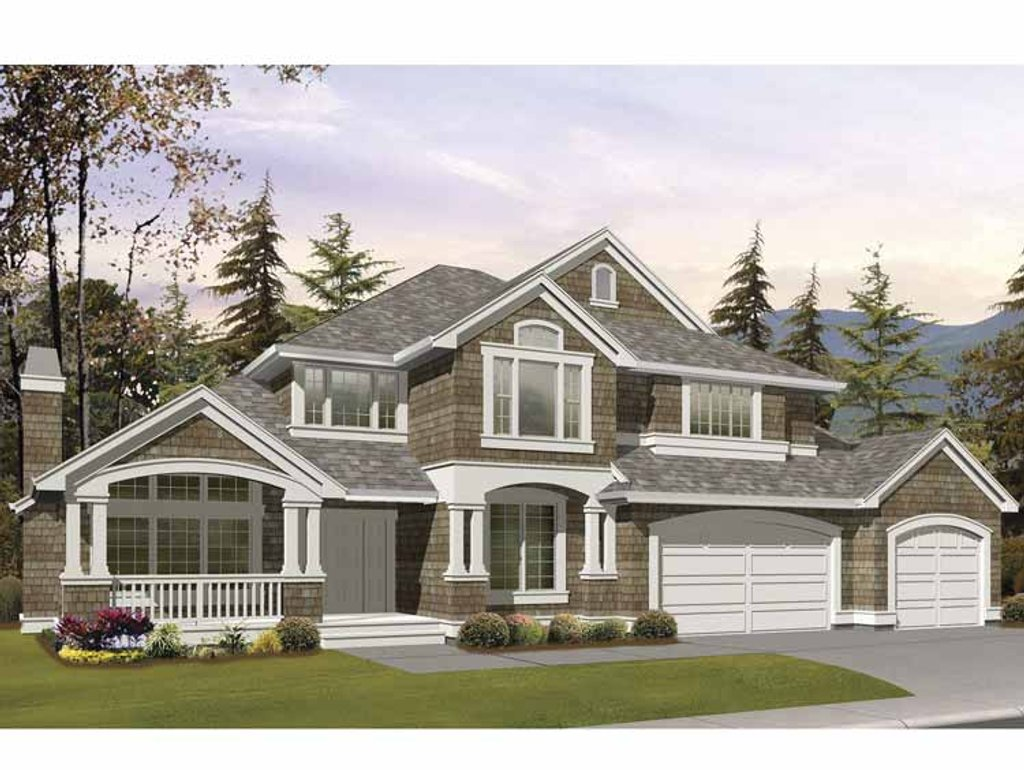 Craftsman style house plan 5 beds 3 5 baths 4080 sq ft for Craftsman style bed plans