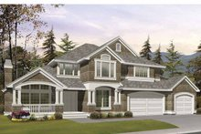 Dream House Plan - Craftsman Exterior - Front Elevation Plan #132-390