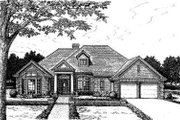 European Style House Plan - 5 Beds 2.5 Baths 2746 Sq/Ft Plan #310-157 Exterior - Front Elevation