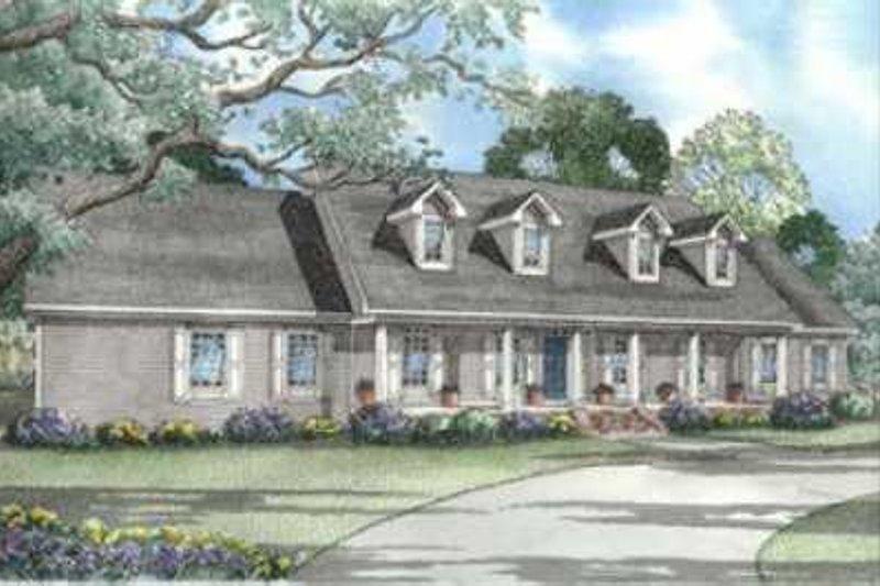 Architectural House Design - Farmhouse Exterior - Front Elevation Plan #17-593