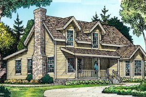 Country Exterior - Front Elevation Plan #140-107