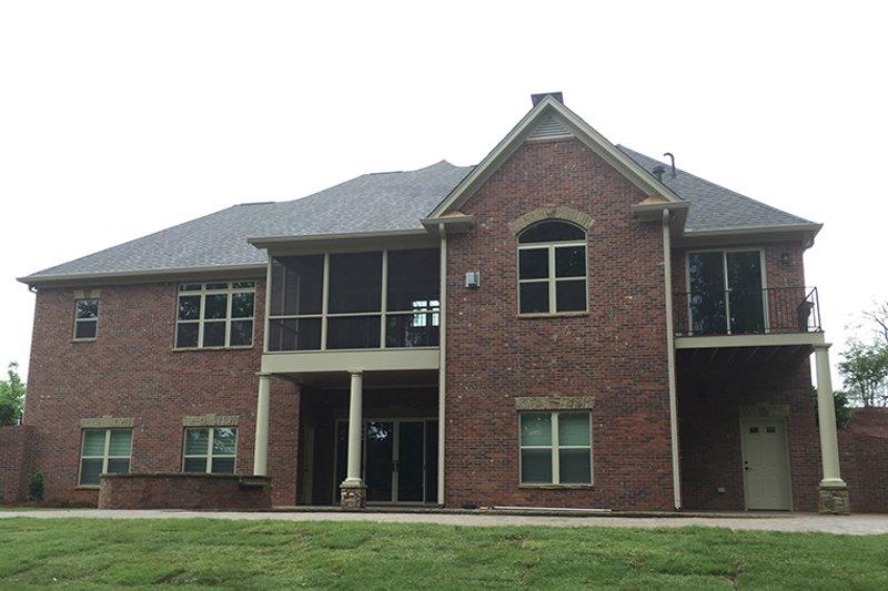 Country Exterior - Rear Elevation Plan #437-72 - Houseplans.com