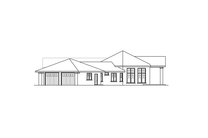 Prairie Exterior - Other Elevation Plan #124-904 - Houseplans.com