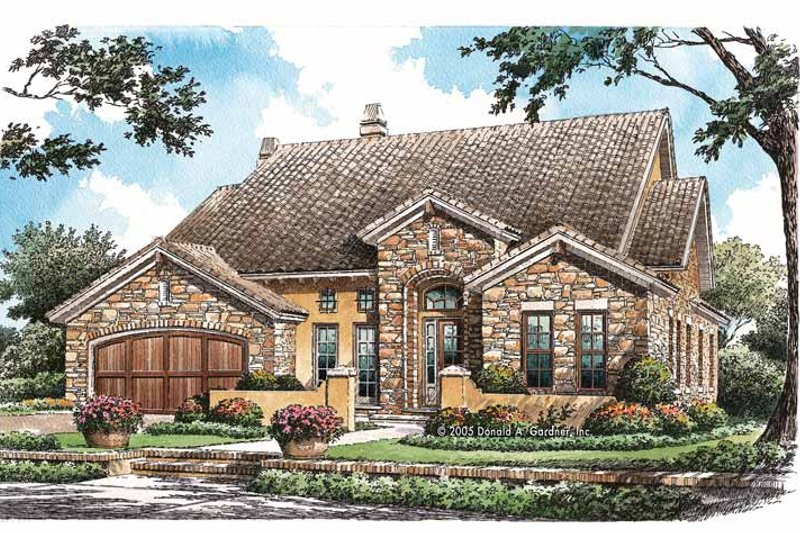 House Plan Design - Mediterranean Exterior - Front Elevation Plan #929-766