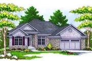 Traditional Style House Plan - 2 Beds 2 Baths 1859 Sq/Ft Plan #70-659 Exterior - Front Elevation