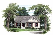 Ranch Style House Plan - 3 Beds 2 Baths 1281 Sq/Ft Plan #927-443 Exterior - Front Elevation