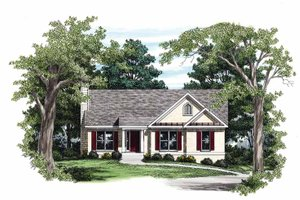 Ranch Exterior - Front Elevation Plan #927-443