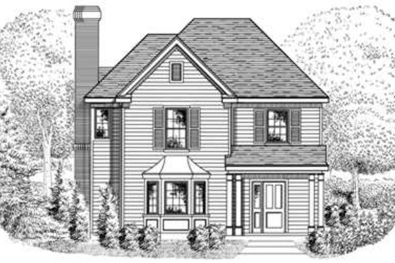 European Exterior - Front Elevation Plan #410-286
