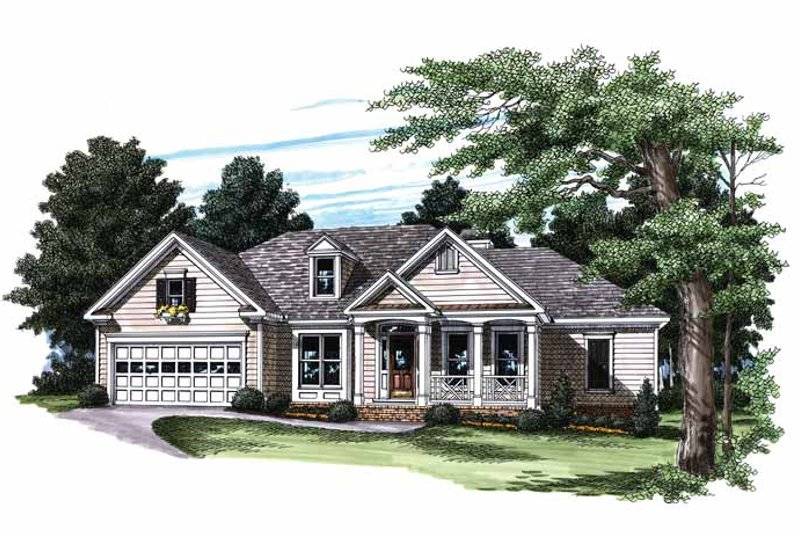 Country Exterior - Front Elevation Plan #927-181