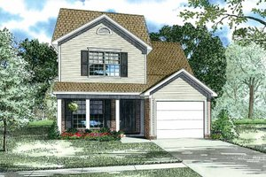 House Plan Design - Country Exterior - Front Elevation Plan #17-2746