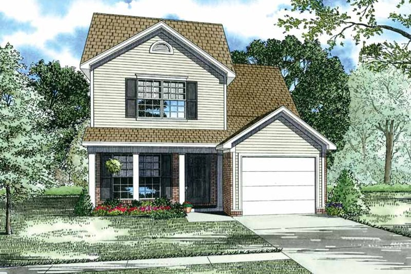 Country Exterior - Front Elevation Plan #17-2746 - Houseplans.com
