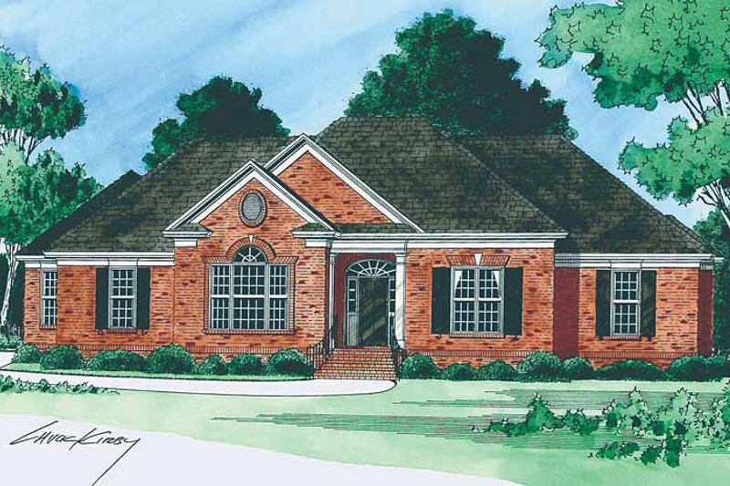 Country Exterior - Front Elevation Plan #1054-2 - Houseplans.com