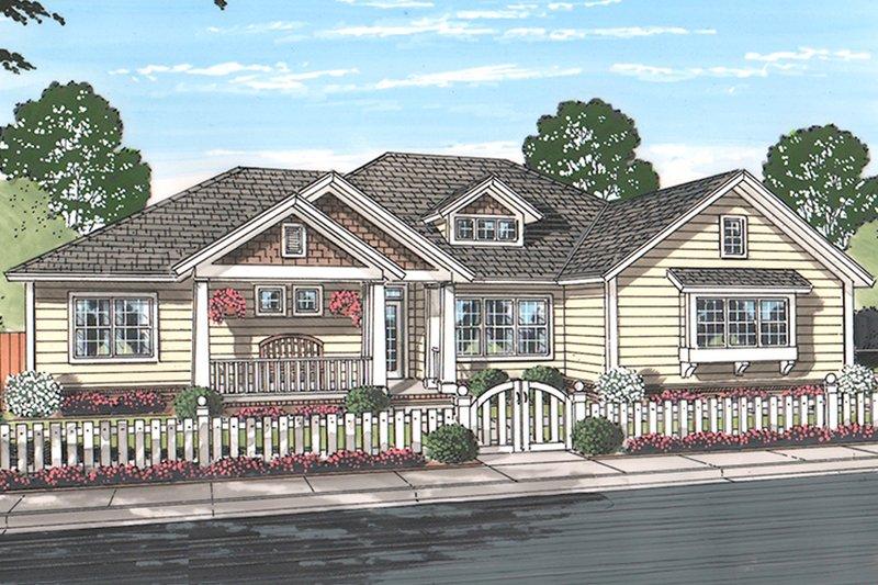House Plan Design - Ranch Exterior - Front Elevation Plan #513-2159