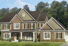 Colonial Exterior - Front Elevation Plan #1010-163