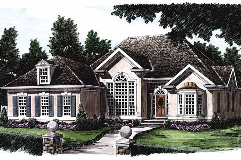 House Plan Design - Mediterranean Exterior - Front Elevation Plan #927-82