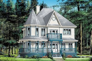 Victorian Exterior - Front Elevation Plan #25-282