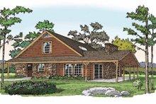 Log Exterior - Front Elevation Plan #314-218