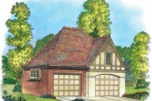 Architectural House Design - European Exterior - Front Elevation Plan #1016-84