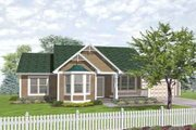 Traditional Style House Plan - 3 Beds 2 Baths 1307 Sq/Ft Plan #50-286 Exterior - Front Elevation