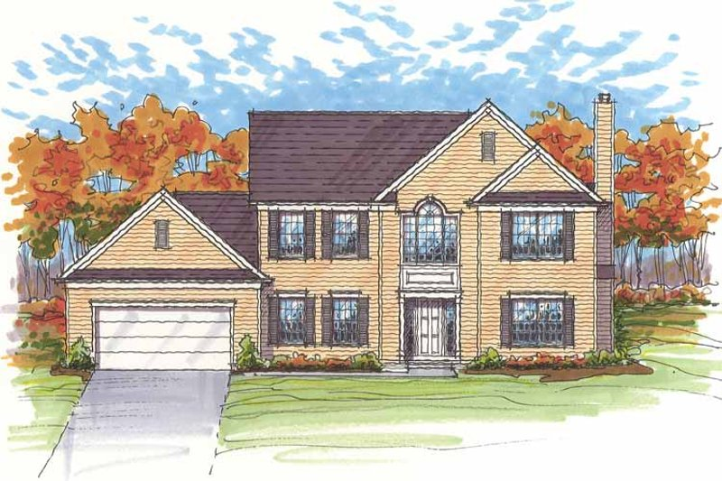 Traditional Exterior - Front Elevation Plan #435-20 - Houseplans.com