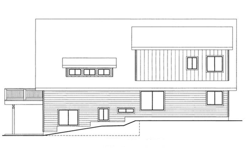 Exterior - Rear Elevation Plan #117-829 - Houseplans.com