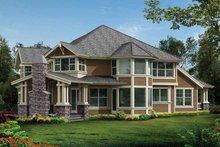Craftsman Exterior - Rear Elevation Plan #132-237