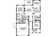 Colonial Style House Plan - 2 Beds 2 Baths 1400 Sq/Ft Plan #1058-102 Floor Plan - Main Floor Plan