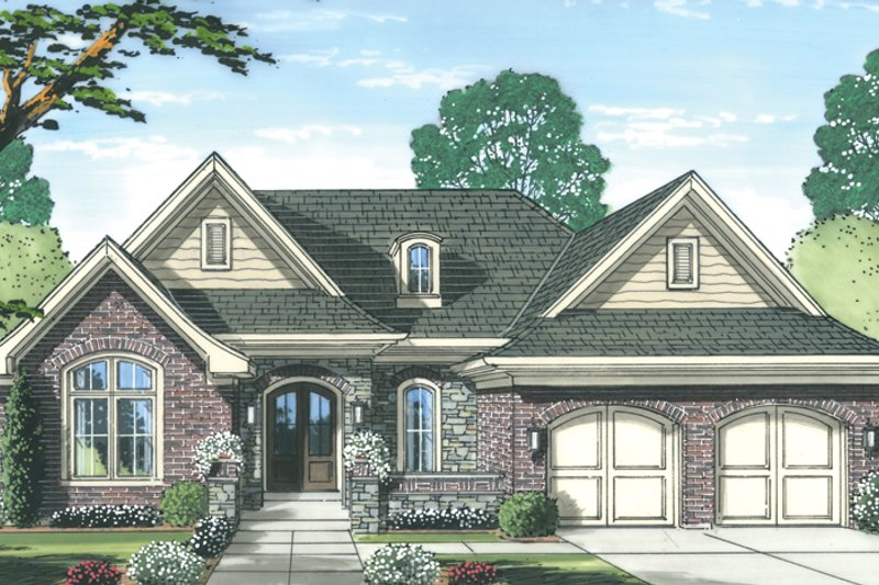 Traditional Exterior - Front Elevation Plan #46-847 - Houseplans.com