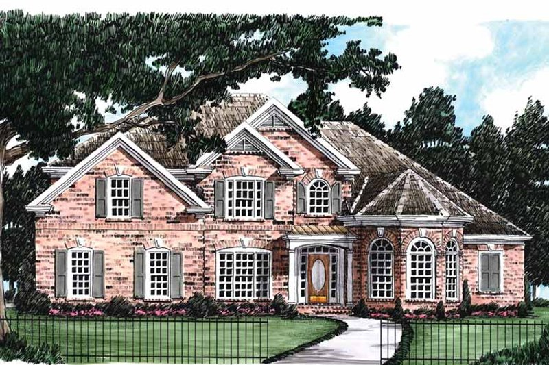 Colonial Exterior - Front Elevation Plan #927-587 - Houseplans.com