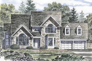 Dream House Plan - Traditional Exterior - Front Elevation Plan #316-135