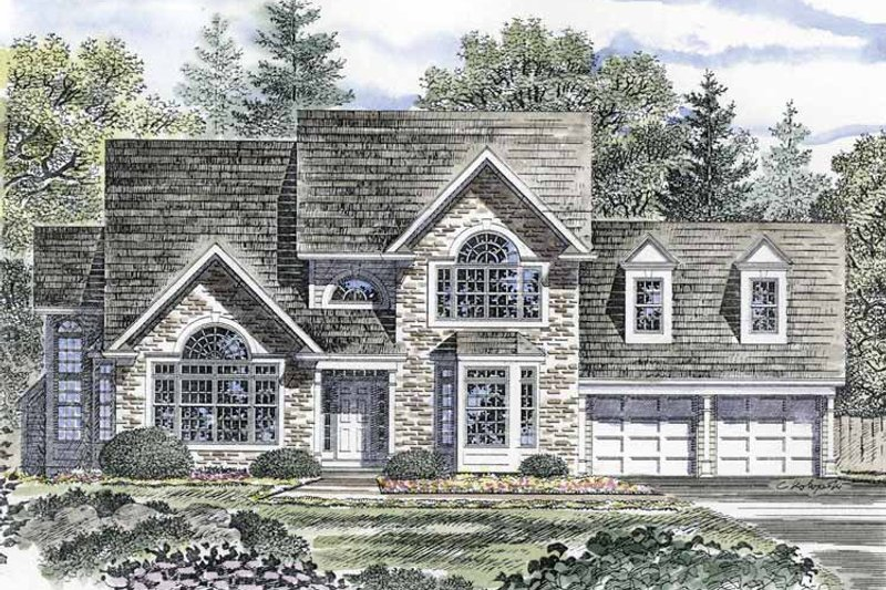 Traditional Exterior - Front Elevation Plan #316-135 - Houseplans.com