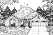 Traditional Style House Plan - 3 Beds 2 Baths 1561 Sq/Ft Plan #42-163 Exterior - Front Elevation