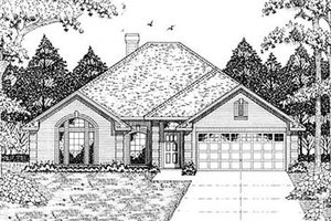 Traditional Exterior - Front Elevation Plan #42-163