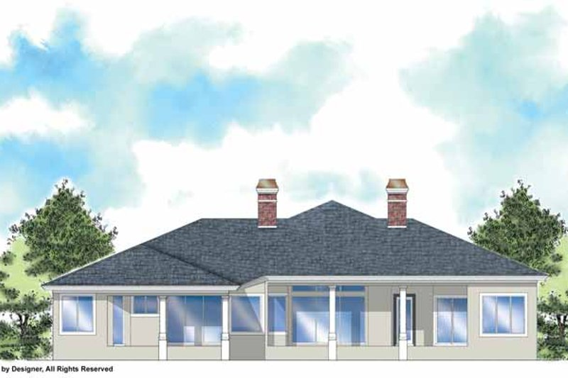 Classical Exterior - Rear Elevation Plan #930-302 - Houseplans.com