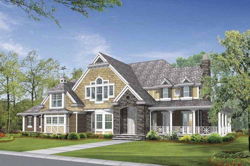 Craftsman Exterior - Front Elevation Plan #132-509 - Houseplans.com