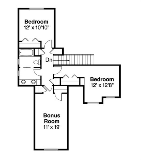 Craftsman Floor Plan - Upper Floor Plan Plan #124-739
